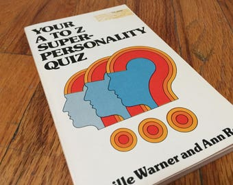 Personality Quiz Book 1977 Vintage Book Paperback Children's Library A to Z Super-Personality Quiz Book