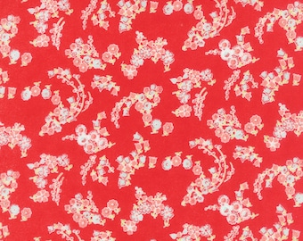 Red Little Ruby Flannel Fabric - Moda - Bonnie and Camille - 55136 11F