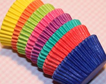 MINI Rainbow Brites Cupcake Liner Party Pak (Qty 80) Mini Rainbow Baking Cup, Mini Cupcake Liners, Mini Baking Cups, Cupcake Liners
