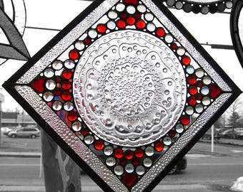 """Plate glass """"red&clear"""" panel"""