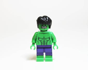 Made from Lego The Incredible Hulk MiniFigure Lapel Pin OR Tie Tack ONLY ONE
