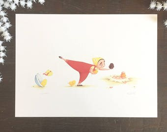 Flora and the Chicks: Balancing Act Limited Edition Signed Print