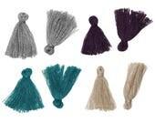 10 glands en coton 25mm - Choisissez votre couleur - Sarcelle, Champagne, Gris ou Violet