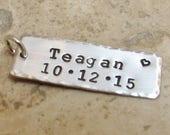 GRAMMIE tag in sterling silver