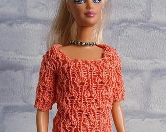 Knitting pattern #01 Barbie top Leaves