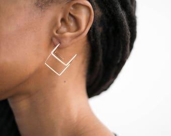 Large Cube Earrings