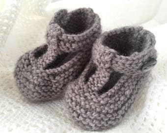 Baby Booties Knitting Pattern, Baby Shoes PDF Pattern, Instant Download Knitting Patterns, Baby Shoes Pattern, Easy Knit Pattern - QUINN