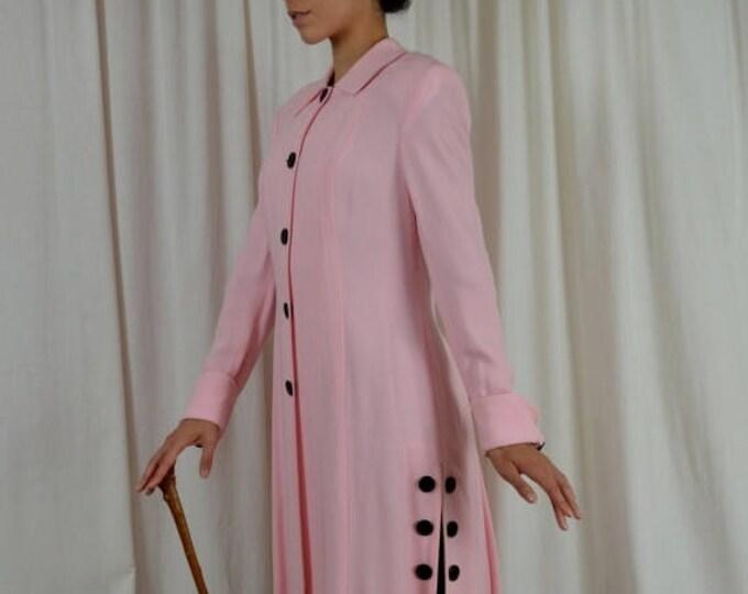 sale Victorian Coat, Pink Coat, Victorian Womens Coat, Edwardian Coat, Gibson Girl , Titanic Coat, Steam Punk Coat, Downton Coat, 1900s Coat