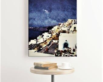 Santorini Greece - Canvas Art Print - Greek Islands - Greek Isles - Santorini Art - Mediterranean Decor - Greece Photo - Canvas Wall Art