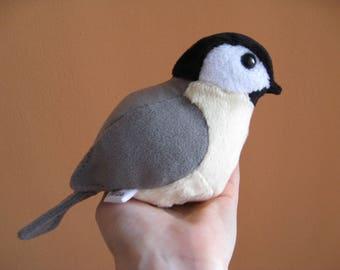 Chickadee Bird Plush Doll / Ornament