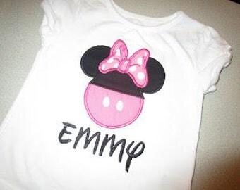 Minnie Mouse Applique Shirt