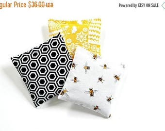 SALE 3 Lavender Sachets, Scented Sachets for Women, Bee Decor, Bee Lover Gift