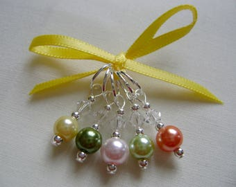 Autumn Leaves Stitch Markers for Knitting or Crochet