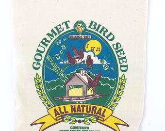 Vintage Birdseed Sack Gourmet Bird Feed Cloth Bag