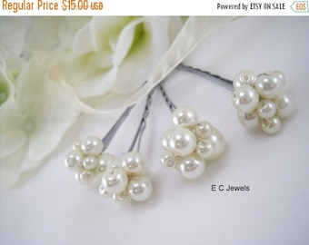 Summer Sale Pearl Cluster Hairpins