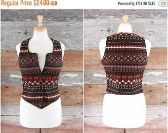 SALE 1980s woven ikat vest by Anne Klein   size xxs - xs