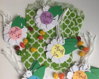 Thank You Gift Tags Baby Shower Birthday Gift Tags Flower Gift Tags (40CT)