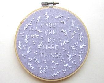 Female Empowerment Art, Women Empowerment Art, Feminist Art, Motivational Art, Empowering Embroidery Art, Lavender Wall Art, KimArt Designs
