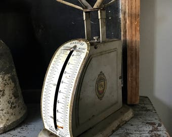 Scale, Antique Scale, Postage Scale, 1898, Industrial Kitchen.