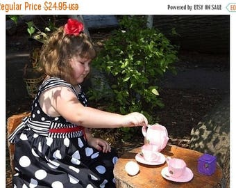 Flash Sale I'm A Little Tea Pot... Felt Pink and Purple Tea Set - tea party -strawberry - pretend play  - gift for girls