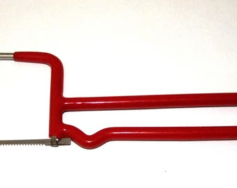 Small Jewelers And Crafters Saw With Blade Stainless Steel Frame Red SALE