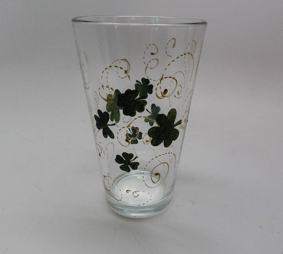 Hand Painted St. Patrick's Day Pilsner and Wine glasses
