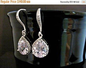 ON SALE Wedding Earrings Set of 5 Cubic Zirconia and Rhinestone Wedding Earrings Diana