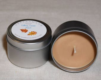 Natural Soy Candle, Falling Leaves Scented Soy Candle, Fall Scented Container Candle, Autumn Scent