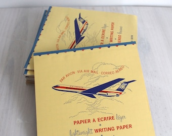 Vintage Air Mail Pad lightweight writing paper onion skin - 50% off on the second pad