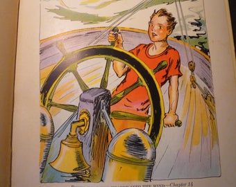 Peter at the Helm Pirates of Oz John R Neill illustrator print - Wizard of Oz L Frank Baum color print  - 1931 - Nursery framable
