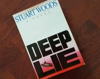 Vintage Book Deep Lie Stuart Woods Hardcover 1986