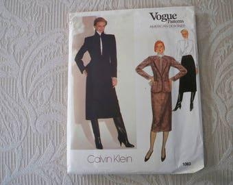 Vintage Sewing Pattern Vogue Pattern # 1063 Misses' Jacket Blouse and Skirt Size 12