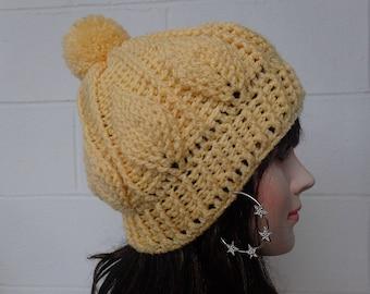 Womens Beanie Hat, Crochet Beanie Hat, Womens Hat, Crochet Hat, Womens Accessories, Fall Fashion, Knitted Fall Leaves Hat Fall Fashion hat