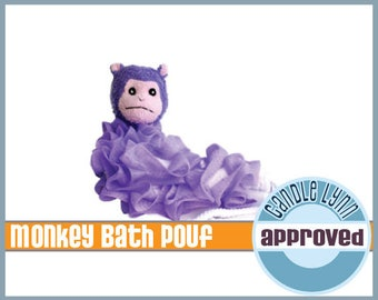 Monkey Bath Pouf - Adorable Kids Bath Scrubbie