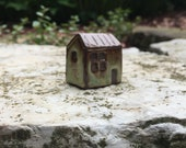 Tiny Ceramic House / Rustic Home / Whimsical Abode