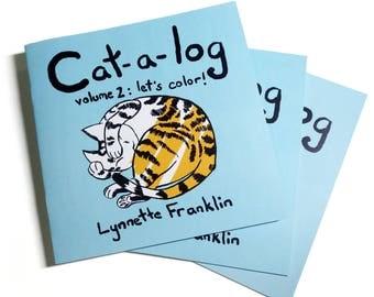 Cat-a-log: Let's Color! Cat Coloring Zine