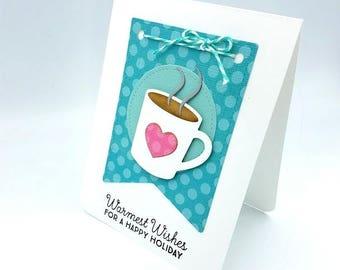 Holiday Gift Card Holder/Gift Card/Christmas Card/Teacher Holiday Card/Coach Holiday Card/Secular Card/Coffee Gift Card Holder/Secular Card