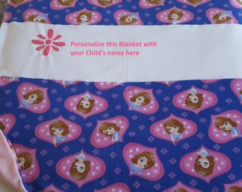Personalize this Sophia the First Blanket