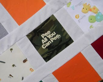 custom listing for ScrappyStar--balance payment for Personalized Patchwork Quilt made with shirts