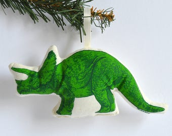 Silkscreen Triceratops Ornament