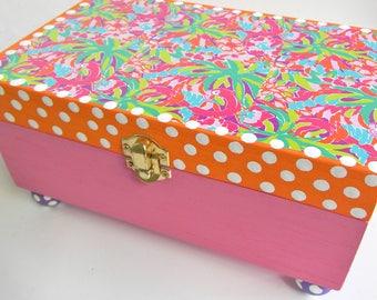 Lilly Inspired Jewelry Box-Girls Jewelry Box-wedding gift Jewelry Boxes-Children Jewelry Box-Kids jewelry box-trinket box-keepsake box-
