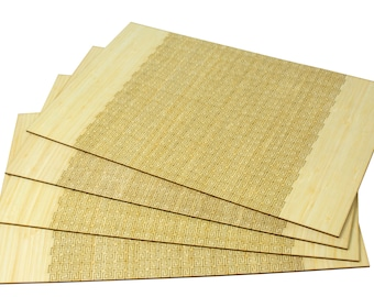 Living Hinge Placemat - Blond Bamboo