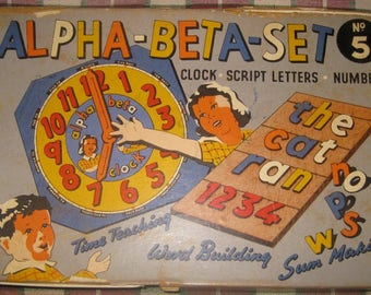 Vintage Alpha-Beta-Set #5 Game, Educational Toy