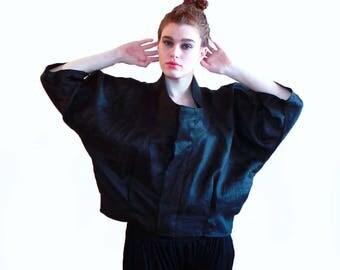 Jacket for women, linen jacket, black jacket, women's jacket ,kimono jacket,urban jacket,bohemian jacket,linen bomber jacket,designer's coat
