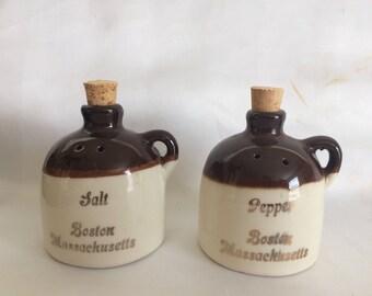 Sale Brown Jug Salt and Pepper Shakers - Boston Souvenir