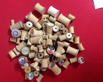 Assorted Wooden Thread Spools (L-53)