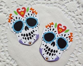 Handmade Sugar Skull Embellishment for Halloween, Dios de los Muertos, Scrapbook, Cards, Altered Art, Lollipop, Loaded Envelope, Party decor