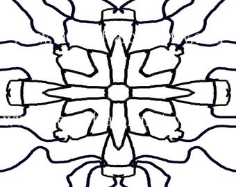 Cross Themed Coloring Pattern Digital Download Art Therapy
