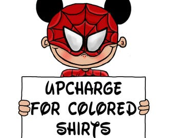Upcharge for Colored Shirts