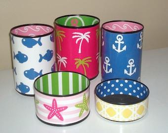 Cute Beach Desk Accessories / Ocean Themed Desk Decor / Fun Dorm Decor / Desk Organization / Pencil Holder - 1028